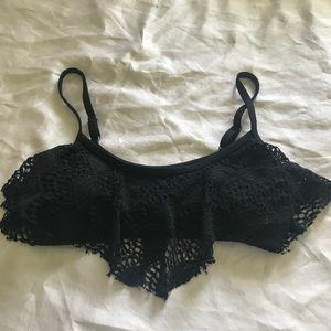 Xhilaration size medium black knit bikini top